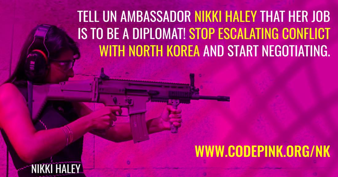 Codepink Nikki Haley