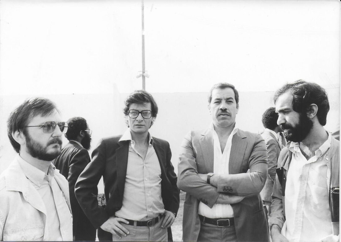 Mahmoud Darwish et Ahmed Abdel Rahman début années 80