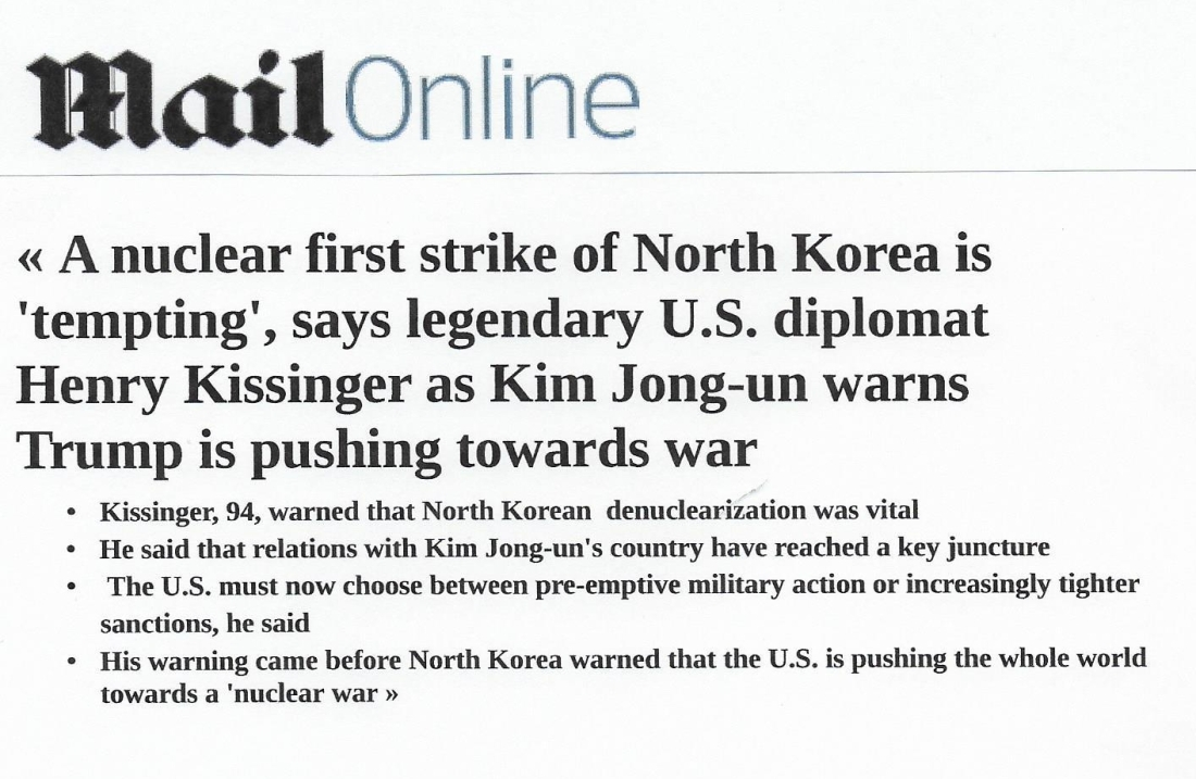 Daily Mail Kissinger