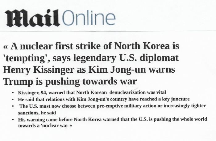 Daily Mail Kissinger