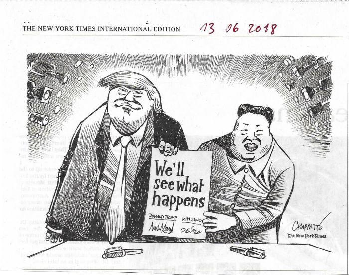 Kim-Trump NYT 13 06 18