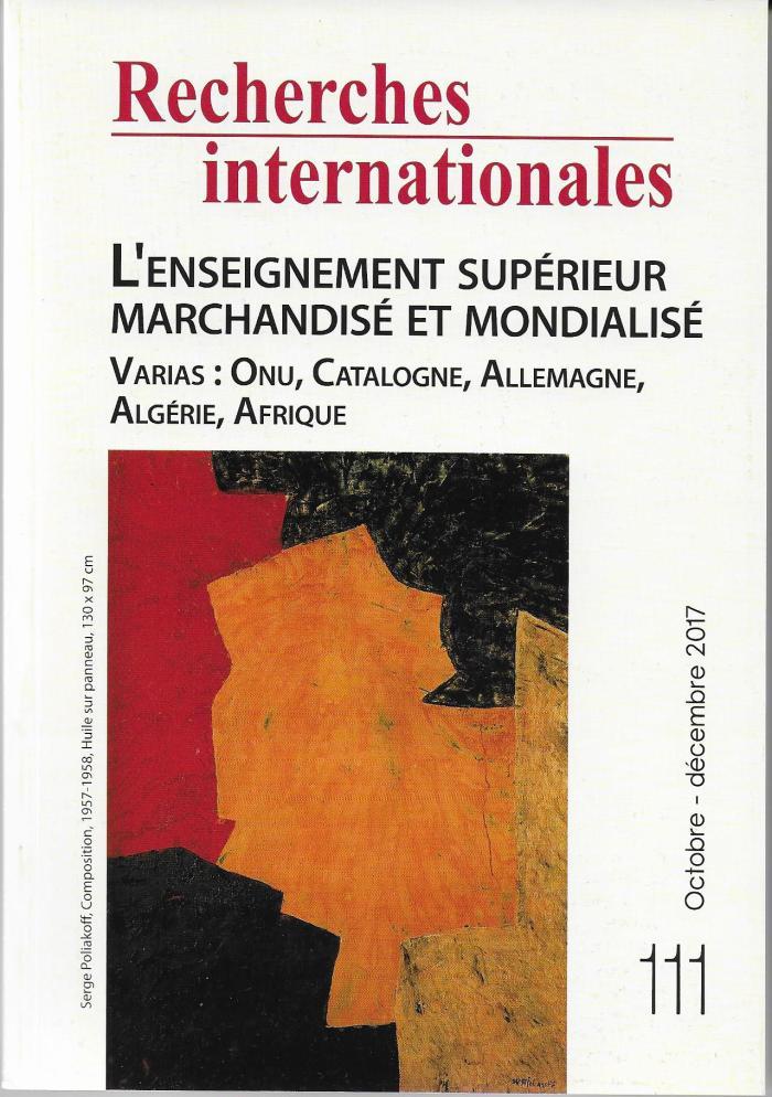 Recherches Internationales 111 (2)
